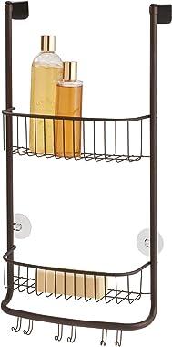 iDesign Forma Bathroom Over Door Shower Caddy for Shampoo, Conditioner, Soap - Bronze
