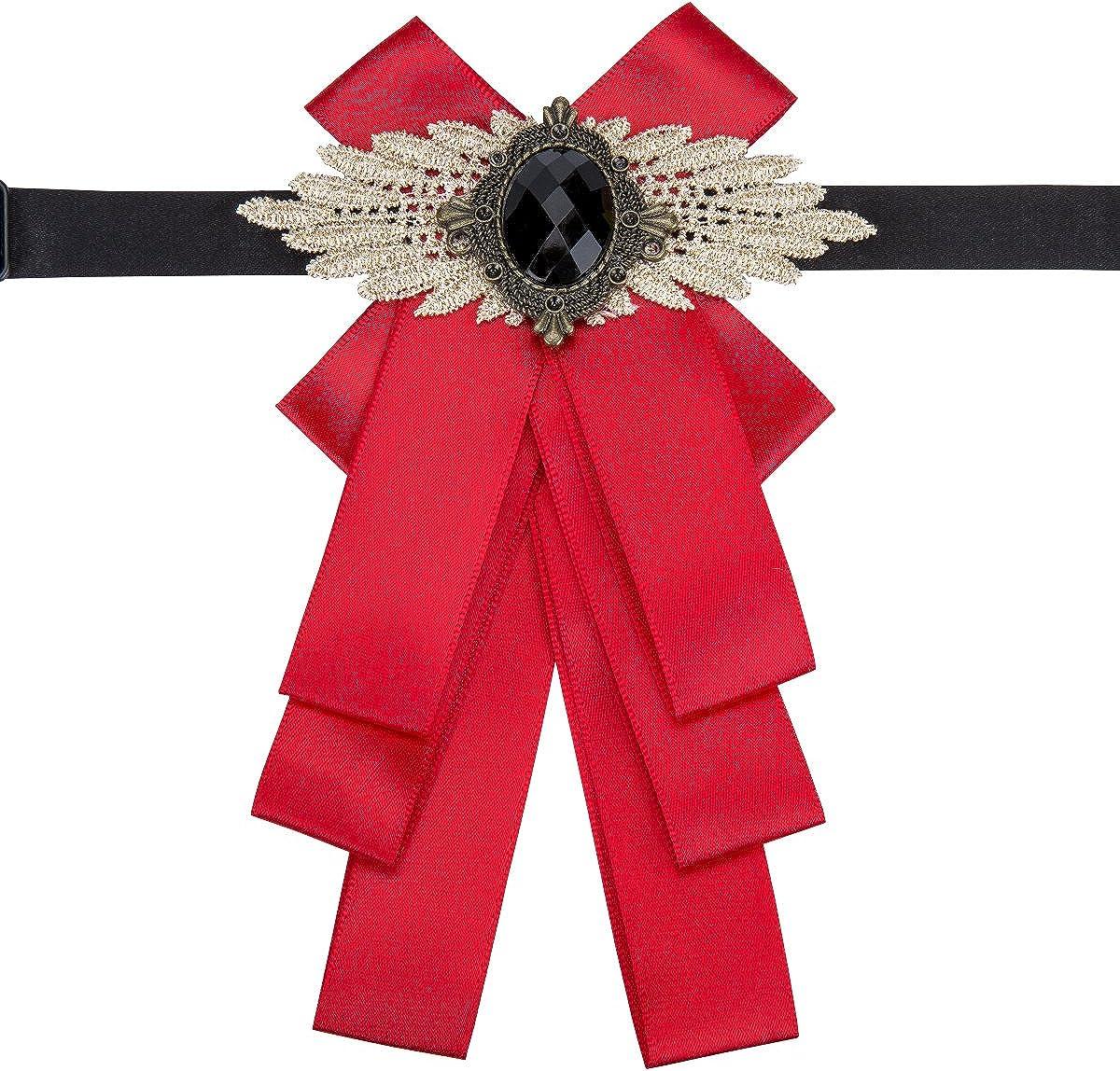 Dubulle Wedding Bow tie Bowknot Necktie Wedding Bridegroom Host Gift Ribbon Pre-tied Bow Tie