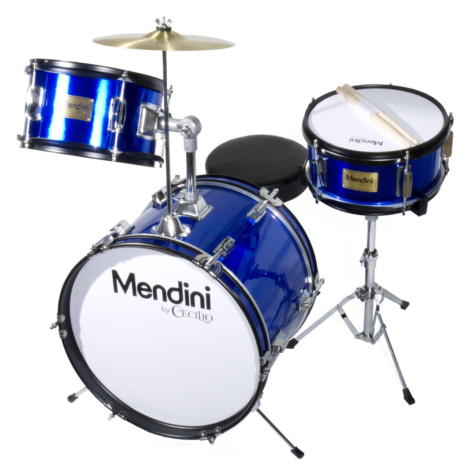 Mendini Adjustable Drumsticks Metallic MJDS 3 BL