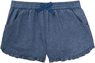 chambray ruffle shorts