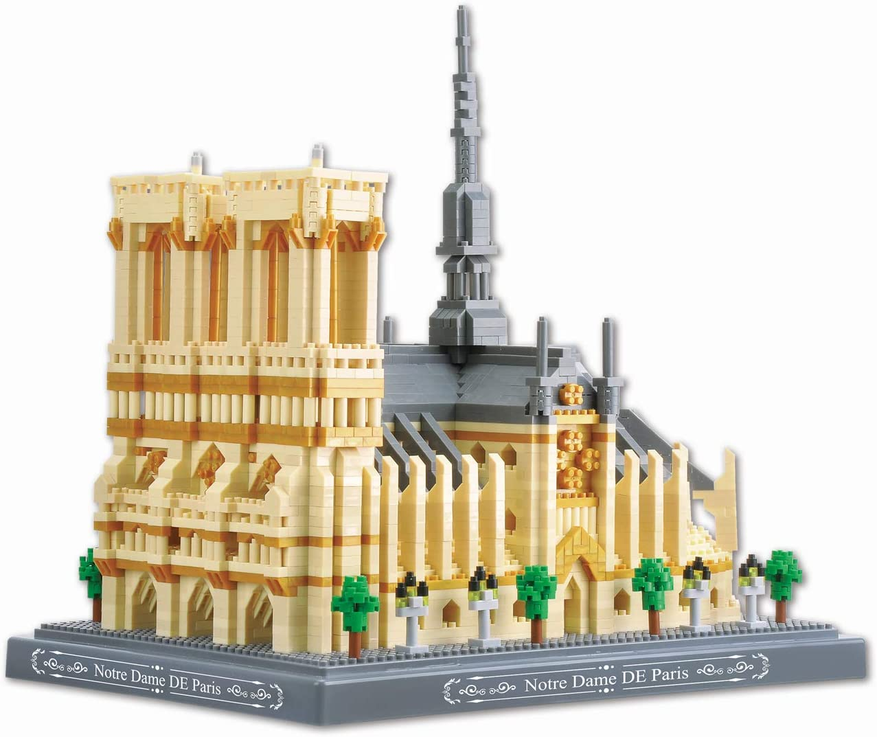 NeoLeo Micro Block Architecture Model Notre Dame de Paris French, Challenge for Adults Children, Cathedral Architecture Church Building Model Kits, 4018 Pieces
