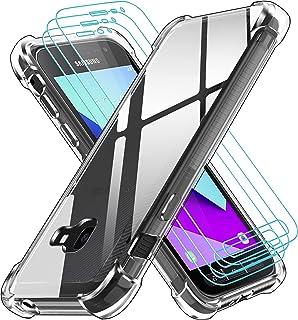 ivoler Coque pour Samsung Galaxy Xcover 4 / Xcover 4s avec Pack de 3 Protection Écran en Verre Trempé, Transparent Étui de...