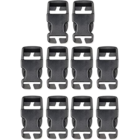 4pcs Black,38 mm Multi-Size Plastic Buckle Repair Kit Quick Release Buckles No Sewing Required Buckles for Backpack Bag