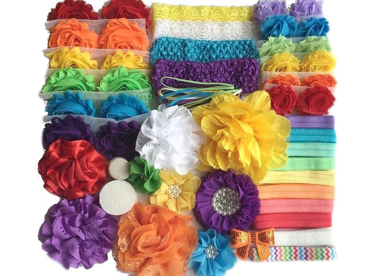 Bowtique Emilee Baby Shower Headband Kit DIY Headband Kit makes 30 Headbands - Rainbow