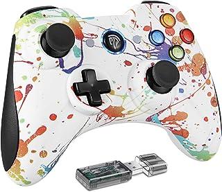 EasySMX KC-8261 PS3/PCゲームパッド ワイヤレス パソコンゲーミングコントローラー 双重振動 Windows/Android/PS3/TV Boxに対応(水彩)