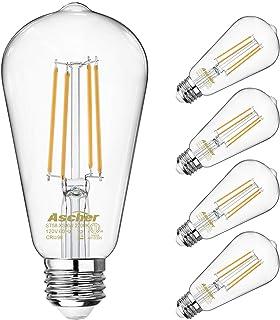 Vintage LED Edison Bulbs 60 Watt Equivalent,Eye Protection Led Bulb with 98+ CRI