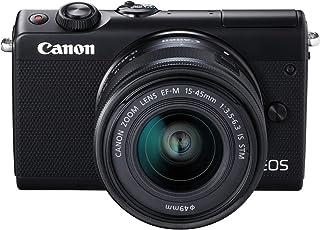 Canon EOS M100 BK M15-45 S - Cámara con sensor APS-C de 24.2 MP (DIGIC 7 Dual Pixel CMOS AF pantalla táctil LCD de 8 cm Full HD a 60P) negro - Kit Cuerpo con Objetivo EF-M 15-45 mm