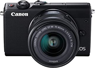Canon M100 EF-M 15-45mm f/3.5-6.3 IS STM Mirrorless Camera - Black