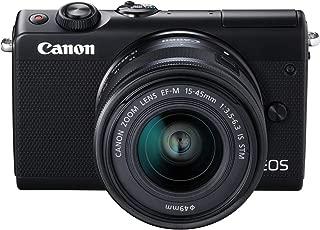 Canon EOS M100 M15-45mm Fotoğraf Makinesi, Full Hd (1080P), Siyah, 2 Yıl Canon Eurasia Garantili