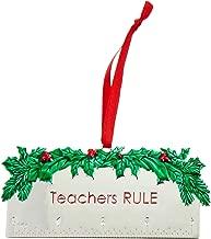 Lenox 878982 Teachers Rule Metal Ornament