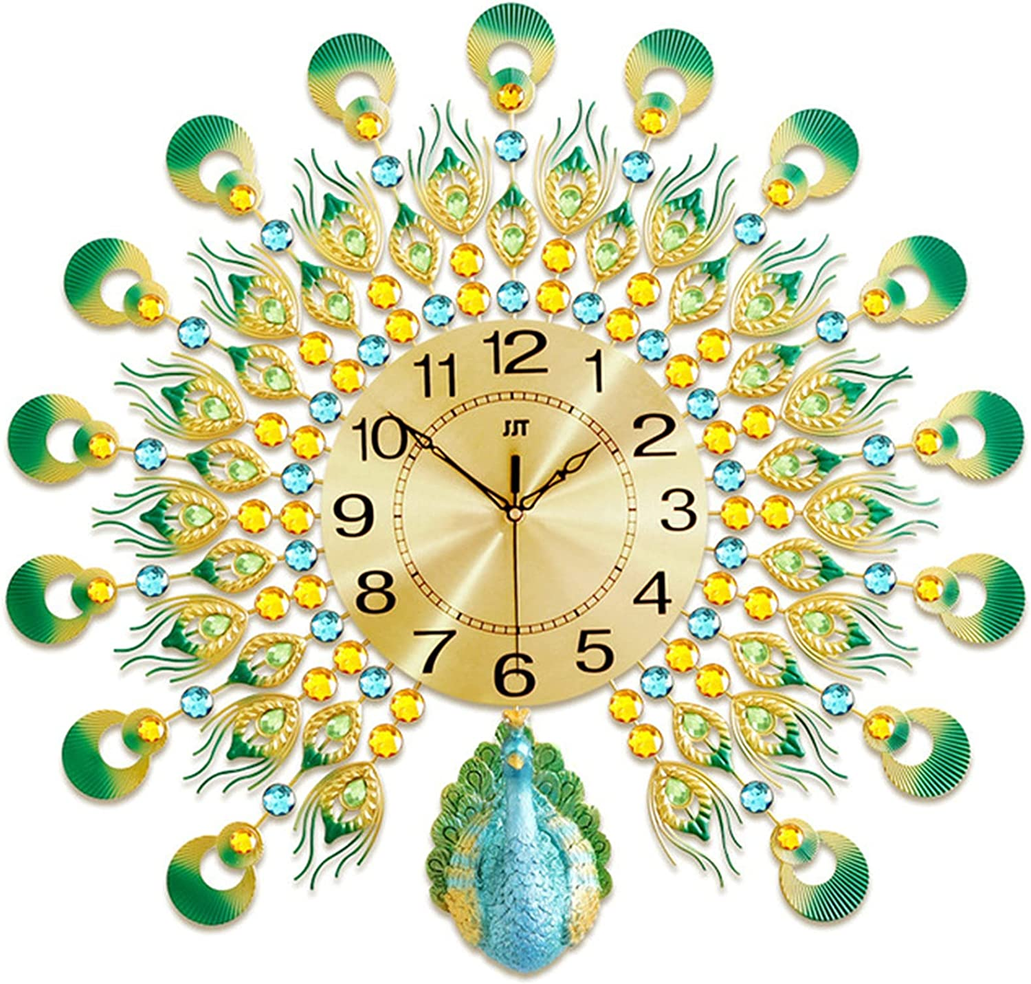 Large Silent Wall Clocks Non for Large special price !! Liv Very popular Peacock Ticking