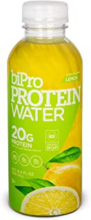 BiPro Protein Water Drink with 20g Whey Protein, Lemon, 16.9 Ounce (Pack of 12)