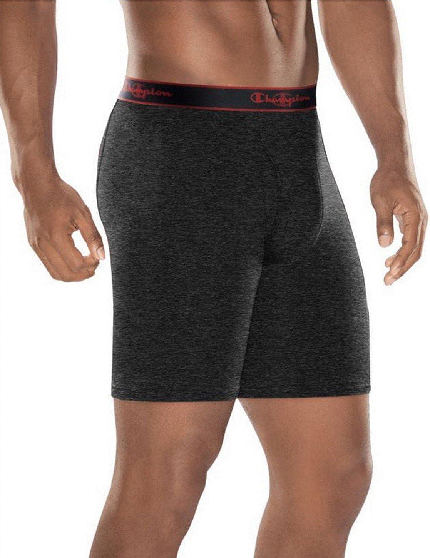 Champion Men's 3-Pack Active Performance Long Leg Boxer Briefs