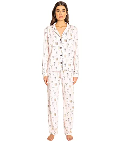 P.J. Salvage Playful Prints PJ Set (Blush) Women