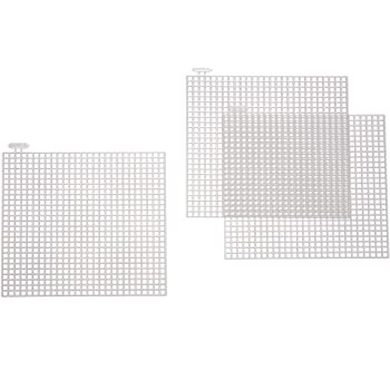 Darice Plastic Canvas Shape Square 4 x 4 inches 10 Pieces (6-Pack) 33019