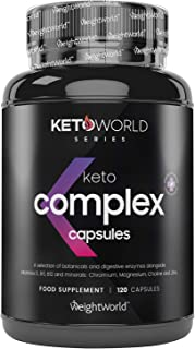Keto Pillen - Keto Complex Fatburner met vitaminen voor een ketogeen dieet - Ondersteunt afvallen - 120 Capsules