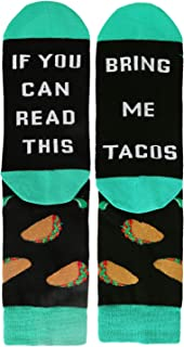 Funny Saying If You Can Read This Beer Wine Coffee Taco Donut Gift Socks for Men