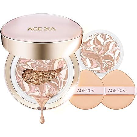 AGE 20's Signature Essence BB CC Cream Moisture Foundation Cushion Pact + Refill #21 Light Beige (0.49oz x 2ea)