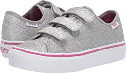 (Glitter Textile) Silver/True White