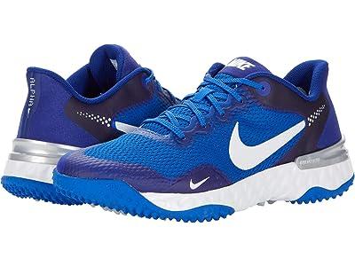Nike Alpha Huarache ELT 3 Turf (Game Royal/White/Light Smoke Grey) Shoes