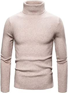 Autumn Winter Men's Sweater Solid Slim Fit Men's Turtleneck Thick Warm Sweater Mens Pullovers Pull Homme