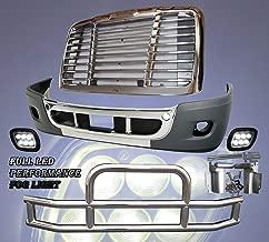QSC Bumper LED Fog Light Grille Deer Guard Set for Freightliner Cascadia 08-16
