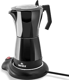 Cafetera eléctrica clásica de 6 tazas. Máquina de café interior de aluminio. Material certificado. Mango ergonómico de apa...