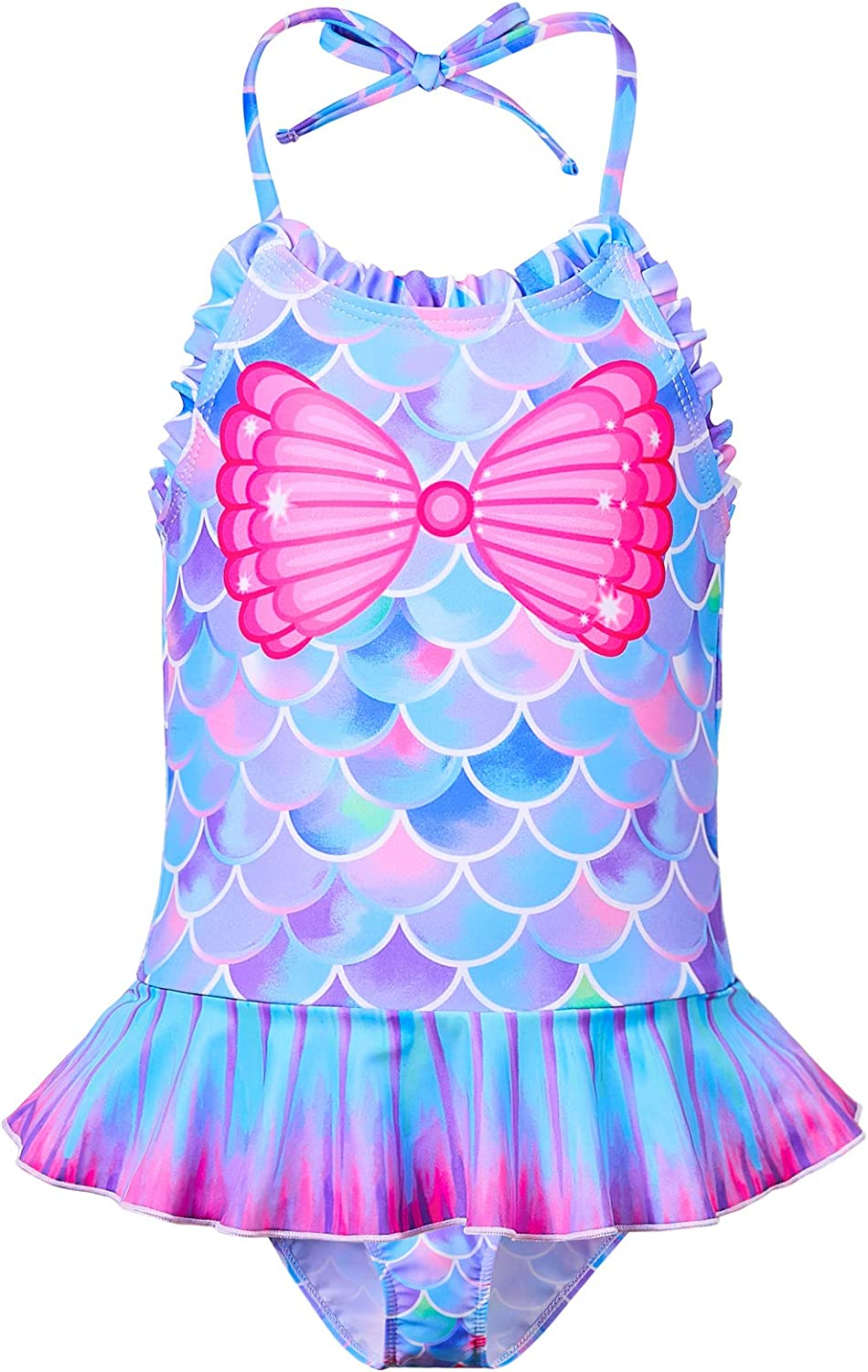 ICOSY Girls One Piece Swimsuits Suit Max 43% shipfree OFF B for Bathing Mermaid