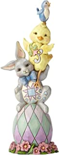Jim Shore Heartwood Creek Collection 6.4-inch Stone Resin Pint Sized Easter Stack