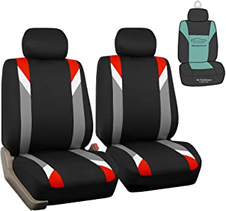 FH Group FB033102 Premium Modernistic Seat Covers Red/Black with Gift - Fit Most Car, Truck, SUV, or Van