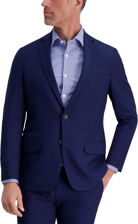 Louis Raphael Men's 2B SV Slim Fit Jacket, Midnight, 46R