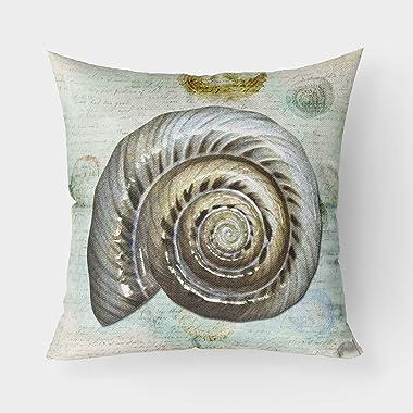 Caroline's Treasures SB3033PW1818 Shells Canvas Fabric Decorative Pillow, 18H x18W, Multicolor