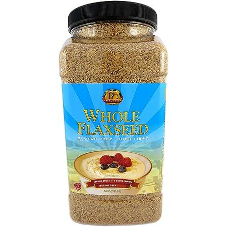 Premium Gold Whole Flax Seed | High Fiber Food | Omega 3 | 96oz