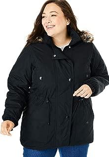 Women's Plus Size Quilt-Lined Taslon Anorak