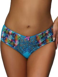Nessa P1 Women's Valerie Blue Motif Knickers Panty Full Brief