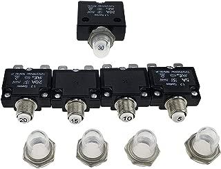 sourcing map Porte-fusible 12-48 V en Ligne Bloc disjoncteur de Rechange pour Adaptateur damplificateur Audio de Voiture