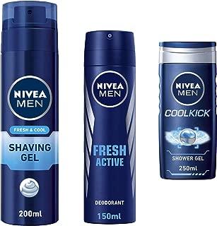 Nivea Travel Men Kit (Nivea Cool Shaving Gel, 200ml + Nivea Fresh Active Deo, 150ml + Nivea Cool Kick Shower Gel, 250ml)