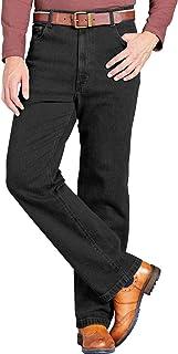 Chums Mens Denim Jean in Stretch Fabric Side Elasticated Stretch Waistband Stonewash Finish