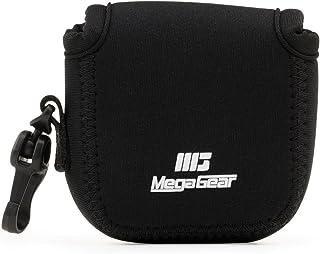 MegaGear MG1312 Estuche de cámara ultra ligero de neopreno compatible con DJI Osmo Action Sony RX0 II GoPro Hero 7 Sony RX0 1.0 GoPro Hero 5 Black Hero 6 Black  - Negro