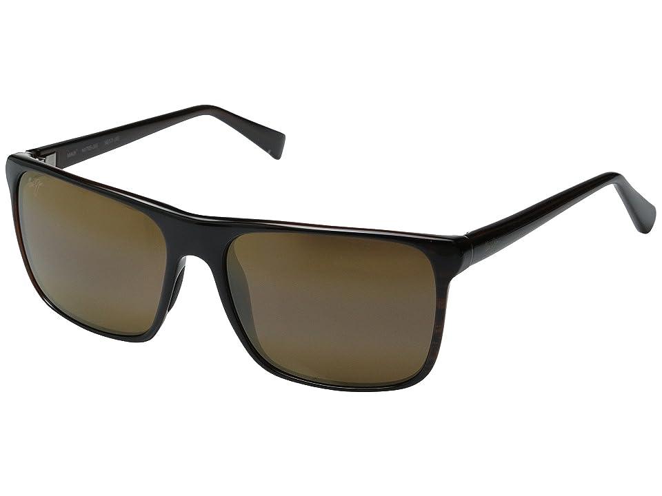 Maui Jim Flat Island (Brown Stripe/HCL Bronze) Fashion Sunglasses