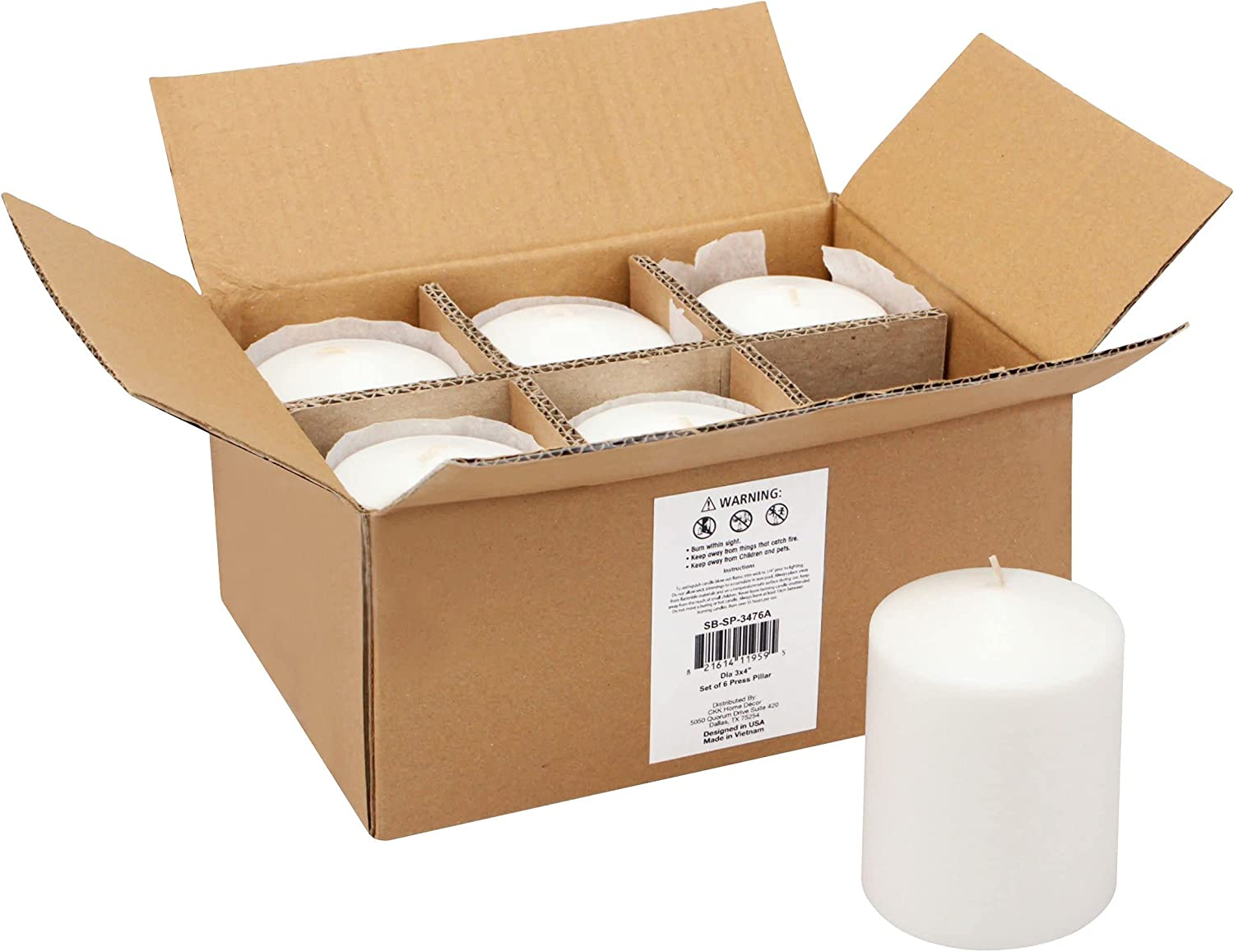 Stonebriar 35 Hour Long Burning Candles Pillar 3x4 25% OFF W Spring new work Unscented