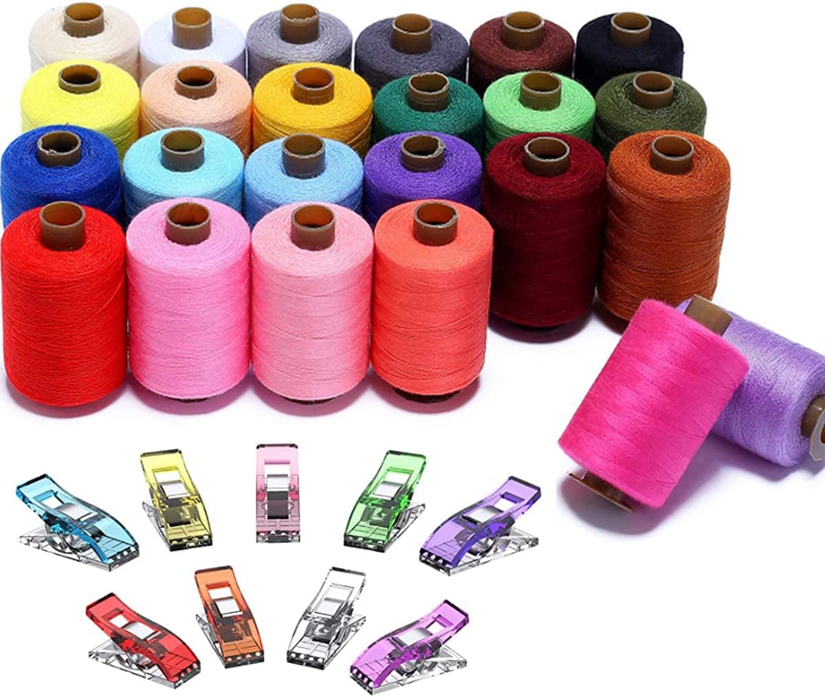 Sewing Thread 24 Color Threads Coil 100 Branded Ranking TOP3 goods Spools Cotton Assortment