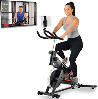 Women's Health Men's Health Indoor Cycling Exercise Bike with MyCloudFitness App and Phone/Tablet Holder, Black (1227)