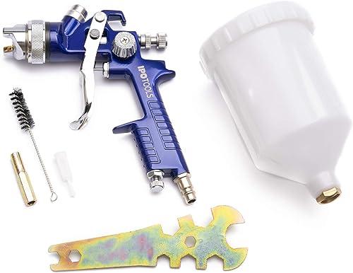 IPOTOOLS Pistolet à Peinture HVLP H-827P Système Pistolet a Peinture Professionnel avec gobelet en Plastique de 600 M...