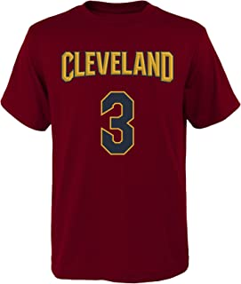 Outerstuff 'Isaiah Thomas Cleveland Cavaliers #3 Red Youth Home Name & Number T Shirt (Small 8)'