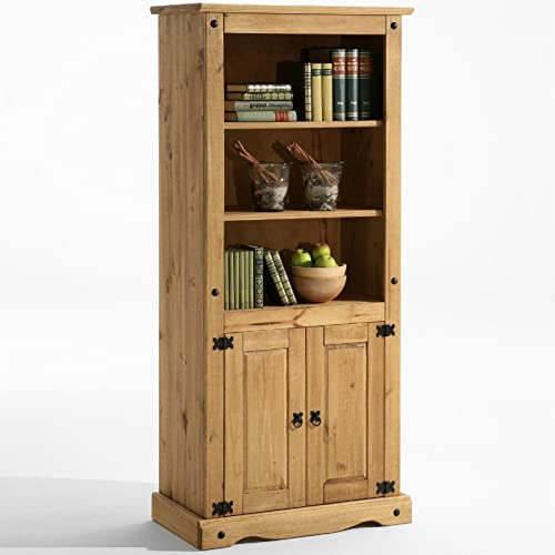 Mews Corona Pine Shelves And Cabinet Living Dining Room Display Unit