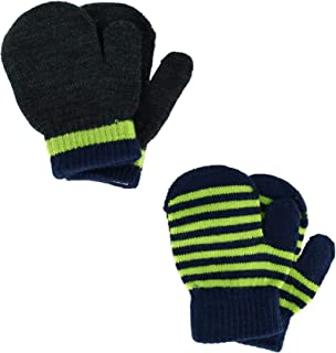 CTM Toddler's and Infant's 2 Stretch Mittens, Lime