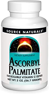 Source Naturals Ascorbyl Palmitate 500mg Powder - Fat-Soluble Vitamin C Ester Supplement - 2 Powder