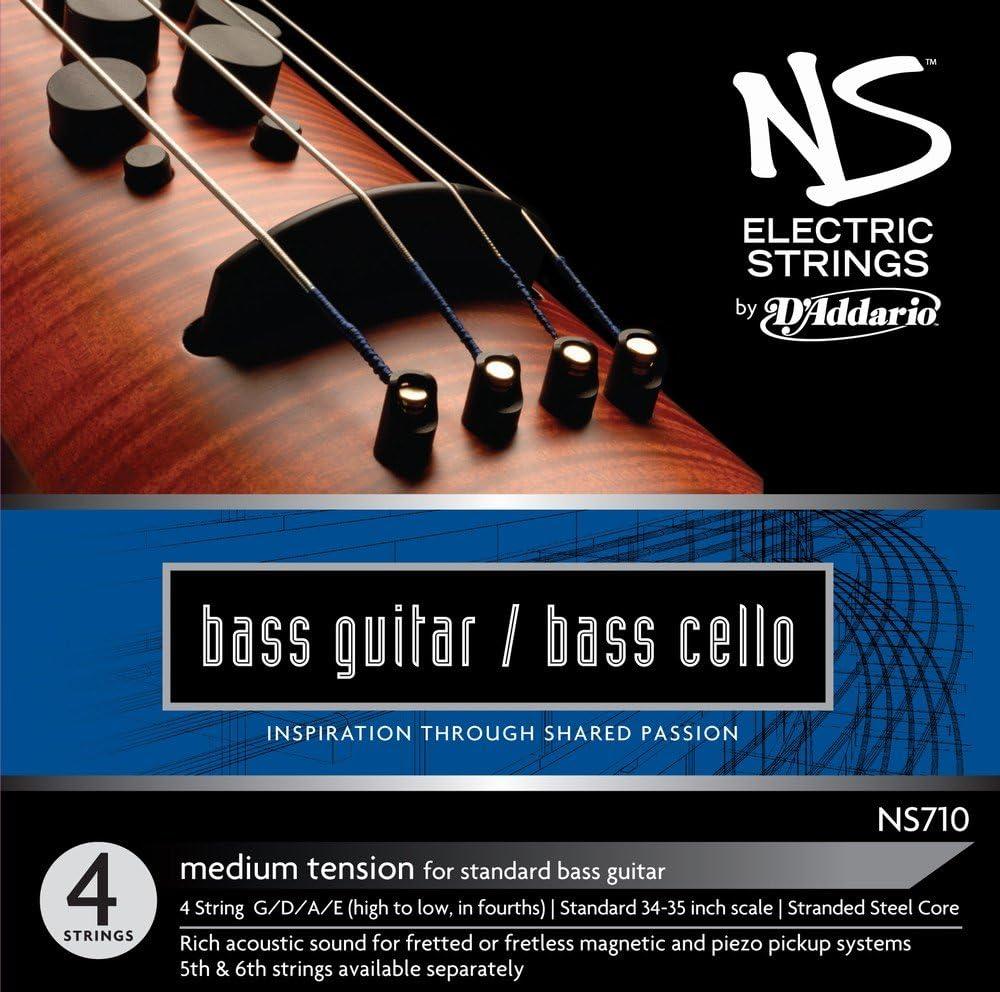 SALENEW very popular! Seasonal Wrap Introduction D'Addario NS Electric Bass Cello String Medium 4 T Set Scale