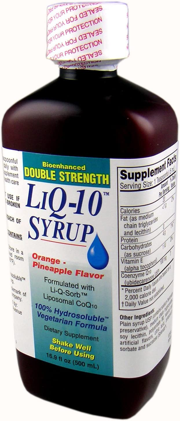 Double Strength LiQ-10 Syrup Liposomal OFFicial store CoQ10 5ml a in per 5 ☆ popular 100mg